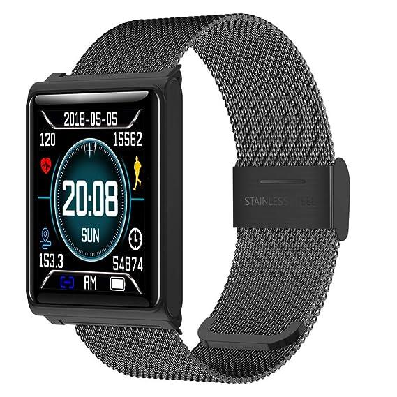 LEDU Smart Watch Impermeable IP67 GPS Reloj, Notificación, Podómetro, Monitor De Sueño para Monitor De Actividad Física, Ritmo Cardíaco, Distancia, ...