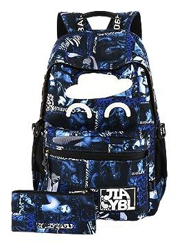 Simple Y Transpirable Mochilas Escolares Juveniles Infantiles Mochila Gran Capacidad Azul: Amazon.es: Equipaje