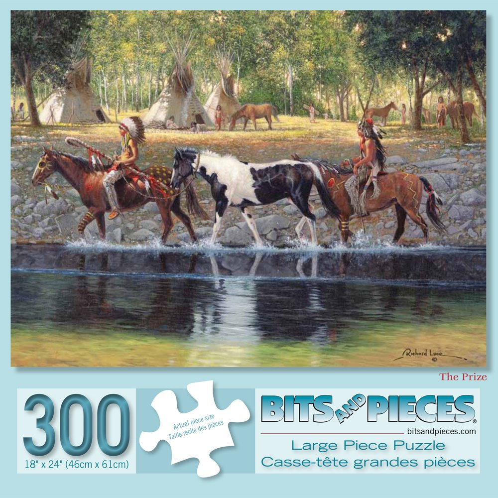 Bits and Pieces - 300 Piece Jigsaw Puzzle for Adults - The Prize - 300 pc Native American Jigsaw by Artist Russ Docken
