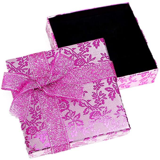 RKC - Cajas de regalo rosa con moño para collar, pulsera ...