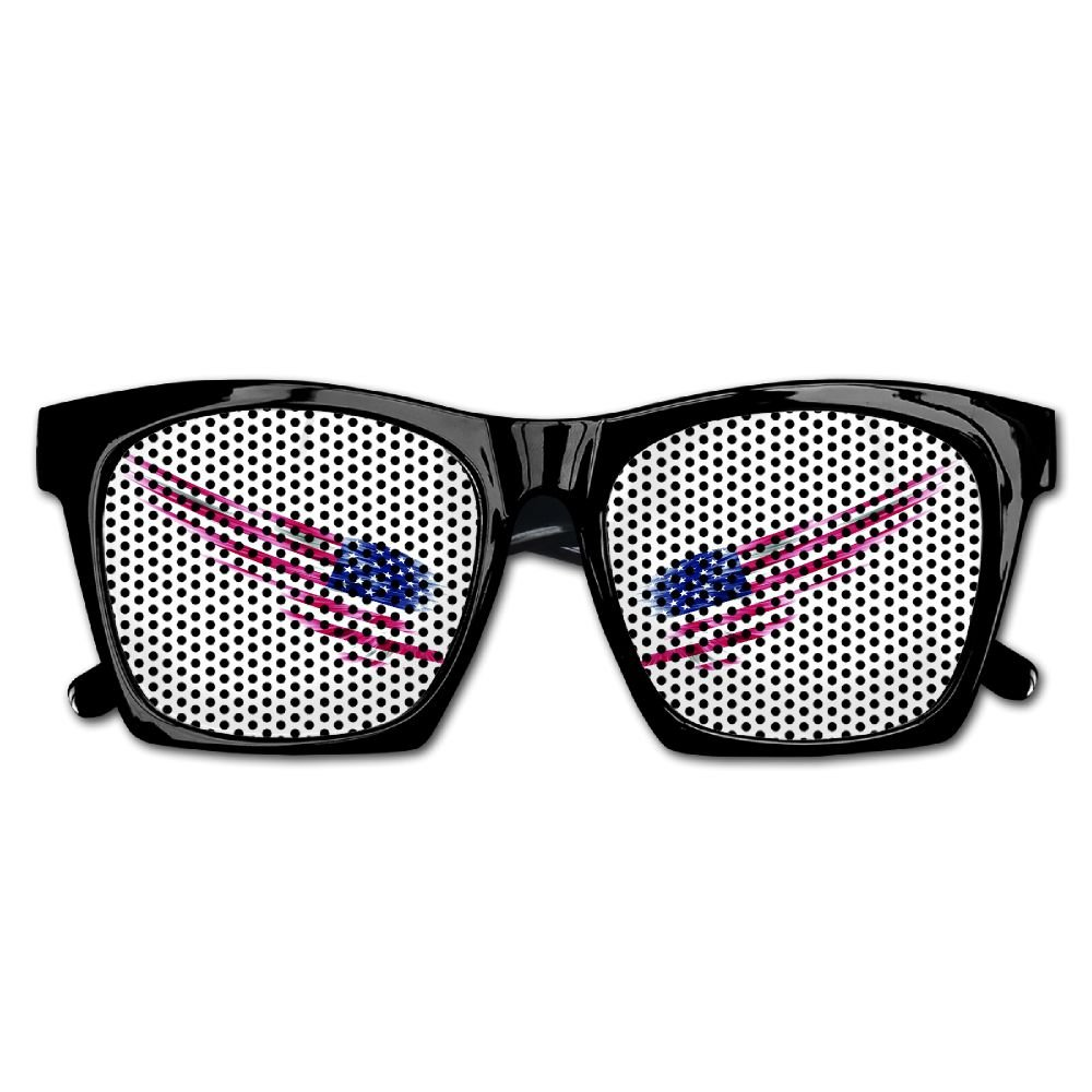 Xing Stars Colorful Summer Unisex Wing With America Flag Countries Fashion Party Costume Sunglasses