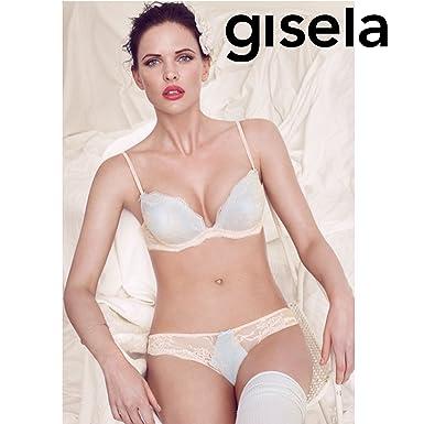 GISELA - Conjunto Sujetador Push UP Mujer Color: Maquillaje Talla: 85: Amazon.es: Ropa y accesorios