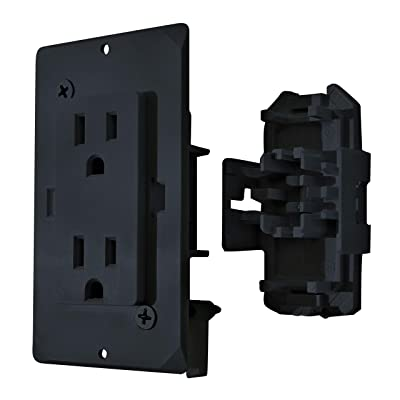 Diamond Group by Valterra DG15BKVP Decor Receptacle with Cover - 15A, 125V, Black: Automotive