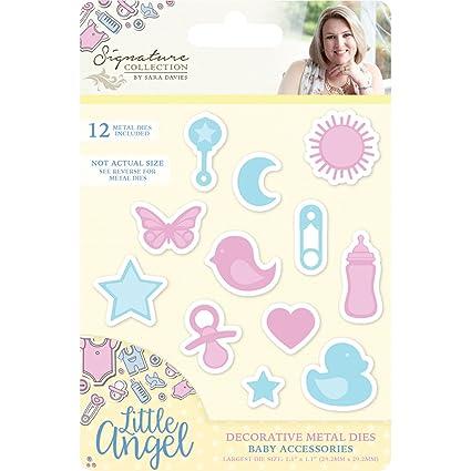 Sara Firma Poco ángel Molde de Metal para Accesorios de bebé, Color Amarillo