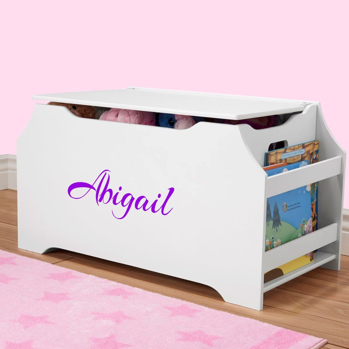 DIBSIES Personalization Station Personalized Dibsies Kids Toy Box with Book Storage - Girls (White) by DIBSIES Personalization Station