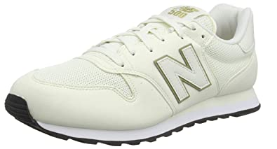 énorme réduction 86cb3 44b34 New Balance 500v1, Les Formateurs Femme, Blanc White/Gold ...