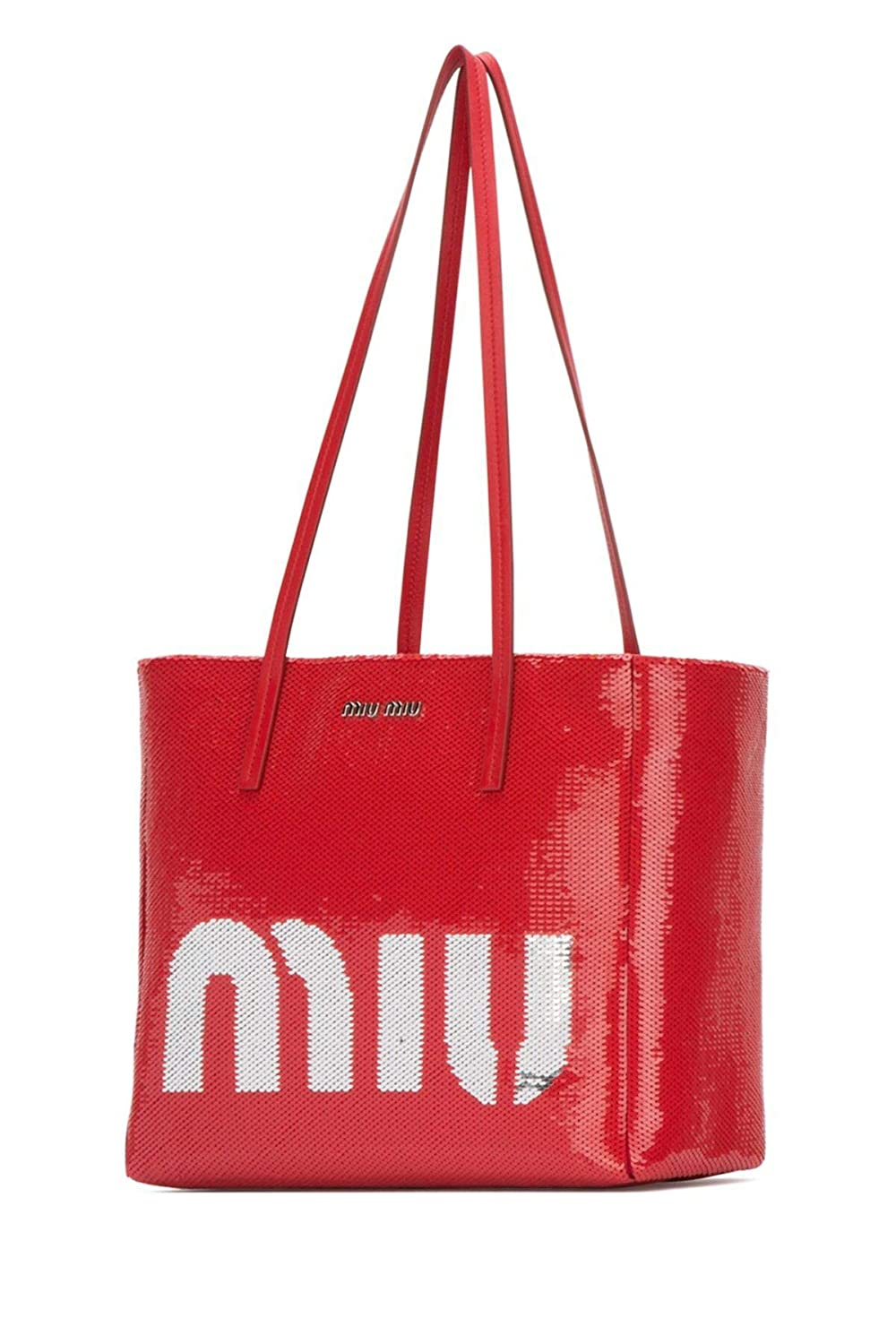 065394cdfcc5 Miu Miu Women s 5Bg147959f0f5c Red Leather Tote  Amazon.co.uk  Clothing