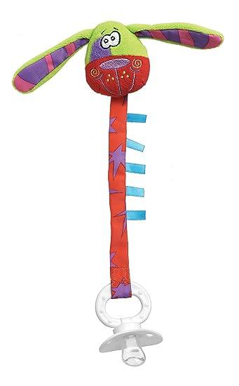 Amazon.com: Playgro Zany Zoo Perro Clip para chupete para el ...