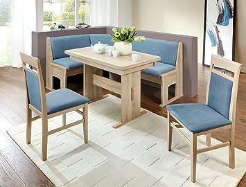 Sabine Eckbankgruppe Chêne Bleu Ensemble 2 Chaises Pour Table Banc