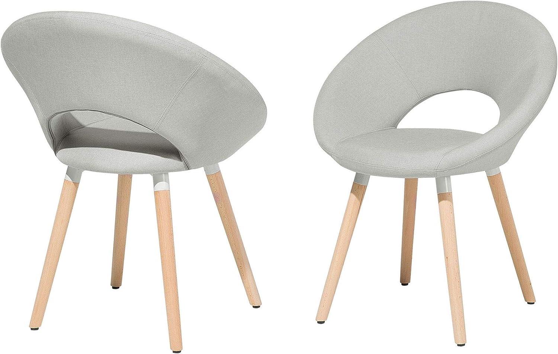 Set di 2 sedie da Pranzo in Tessuto Azzurro Roslyn: Beliani