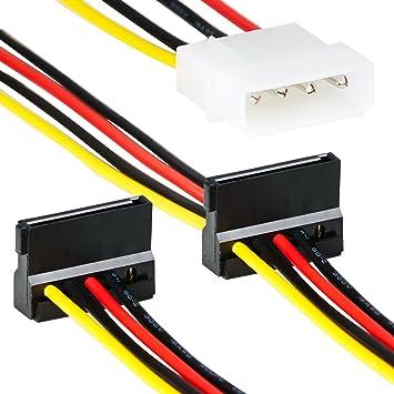 4 Pin Molex zu 2x Sata Splitter | 35cm | Adapter Kabel: Amazon.de ...