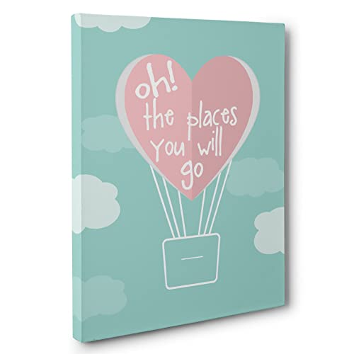 amazon com oh the places you will go wedding anniversary canvas