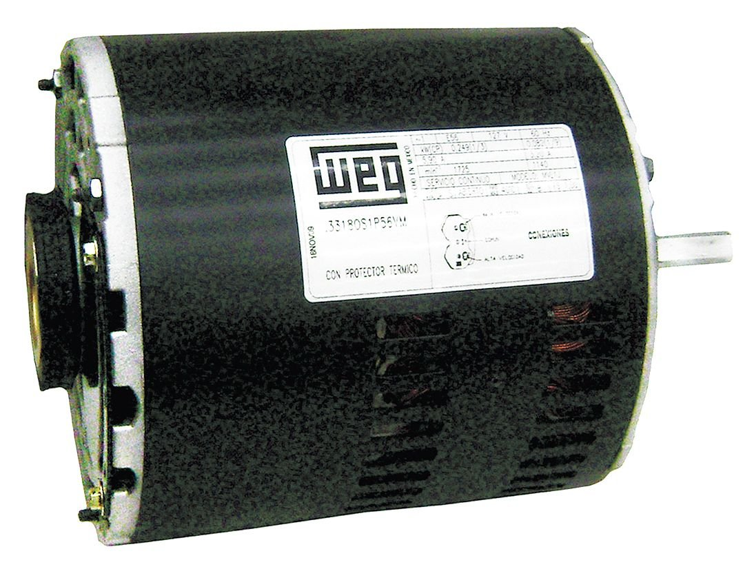 WEG .3318OS1AEC56 ODP Evaporative Cooler Definite Purpose Motor, 1/3 HP, 1-Phase, 1800 RPM, 115 V, 60 Hz, Frame 56