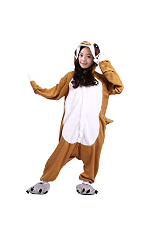 c6865c1ddf Cute On Unisex Childrens Pajamas Sloth Onesies Cartoon Animal Cosplay  Costume Nightwear 120(Suggest Height 114-122CM)  Amazon.co.uk  Clothing