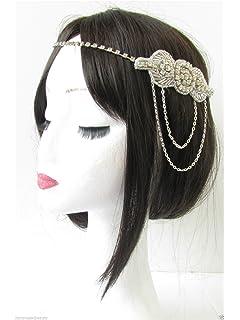 Black Beaded Hair Comb 1920s Flapper Art Deco Headpiece Seed Bead Vintage 3751