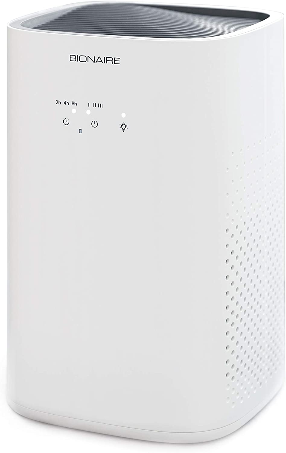 Bionaire True HEPA Air Purifier With 3 Stage Filtration System, Air Cleaner with Quiet Setting, Medium Room Air Purifier for Allergies & Pets, White