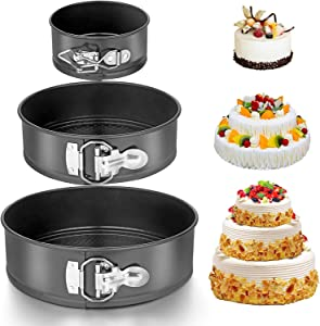 3Pcs Cheesecake Pan Set Non-stick Leak-proof Cake Bakeware 4