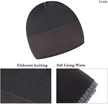 86673a0295062 Mens Winter Warm Knitting Hats Plain Skull Beanie Cuff Toboggan Knit Cap 4  Colors. OMECHY Winter Knit Warm Hat Daily Thick Stretch Plain Beanie Ski  Skull ...