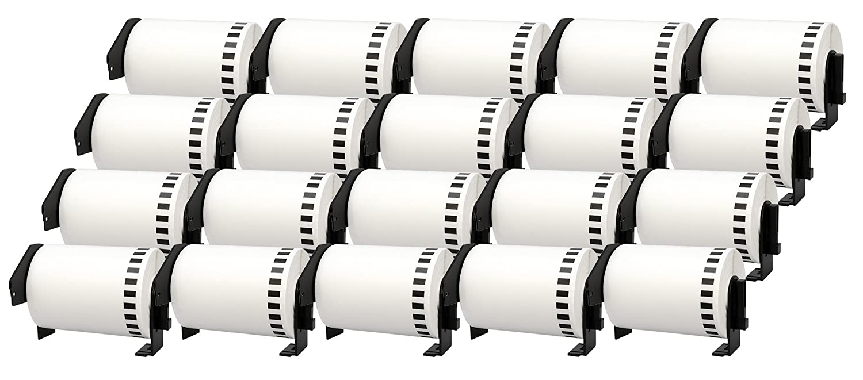 5x DK-11208 38 x 90 mm Compatible Address Labels Rolls (400 Labels per Roll) for Brother P-Touch QL-1050, QL-1050N, QL-1060N, QL-500, QL-500A, QL-500BS, QL-500BW, QL-550, QL-560, QL-560VP, QL-560YX, QL-570, QL-580, QL-580N, QL-650TD, QL-700, QL-710W, QL-72