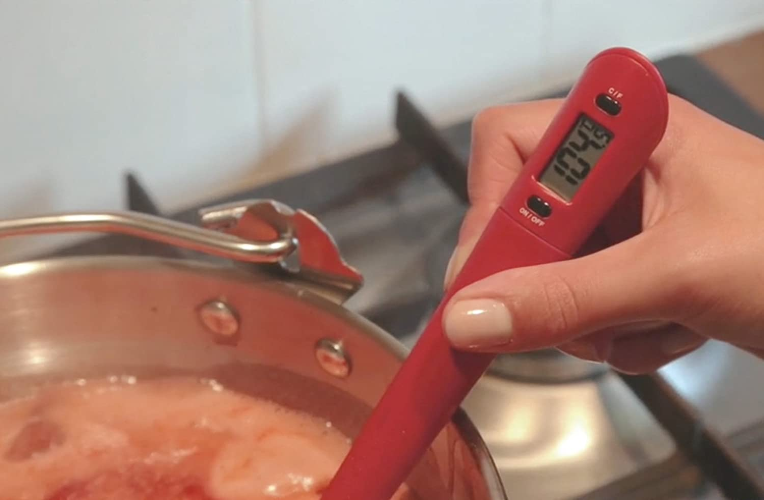 Kitchen Craft Home Made Silicone Thermometer Spoon