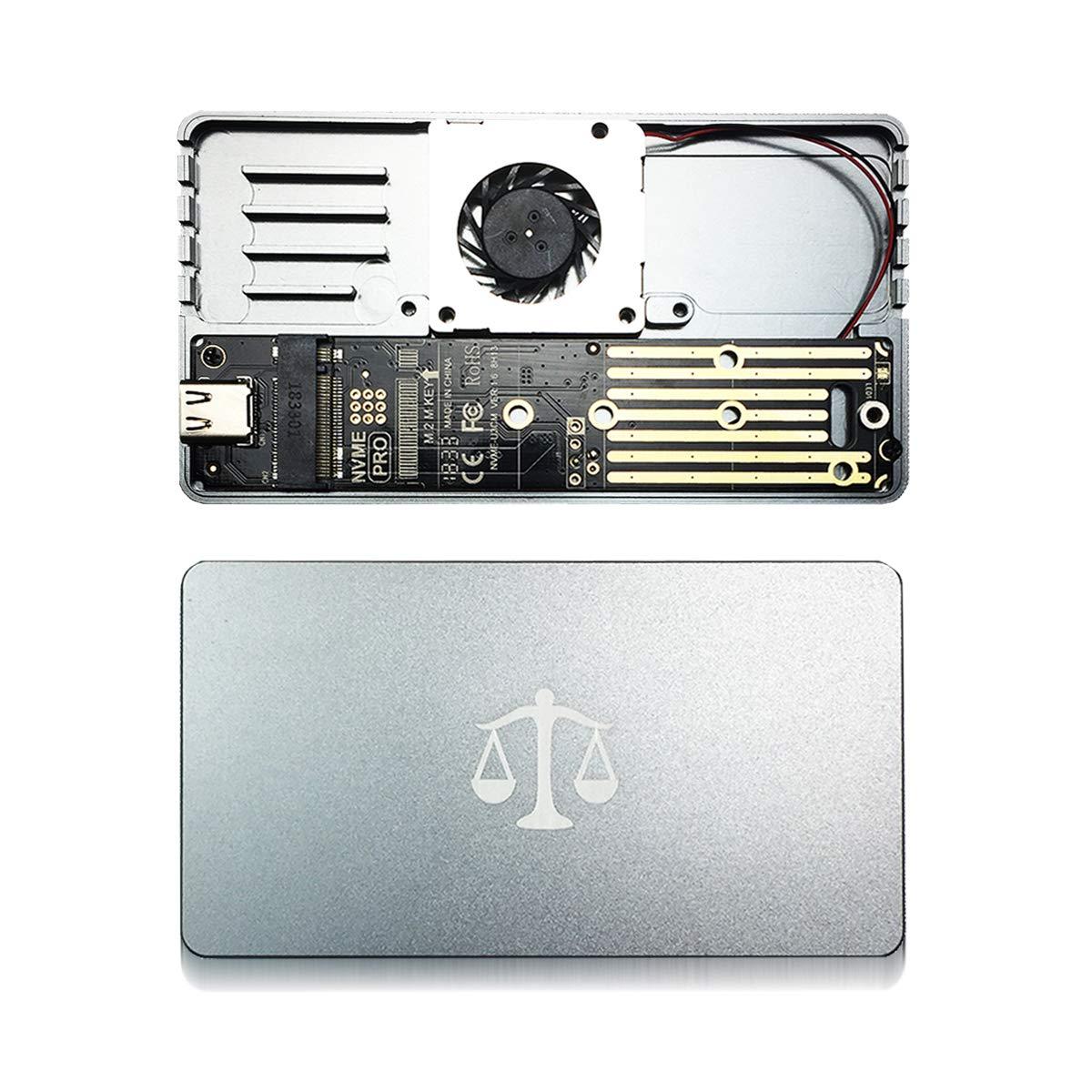 GLOTRENDS Scorpio M.2 NVME a USB C Caja Enclosure Case para M.2 NVME SSD