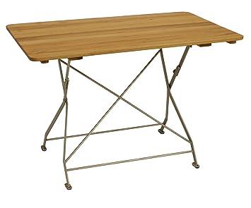 Jardins table pliante 70 x 110 cm en acier galvanisé revêtu par ...