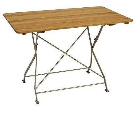 Jardins table pliante 70 x 110 cm en acier galvanisé revêtu ...
