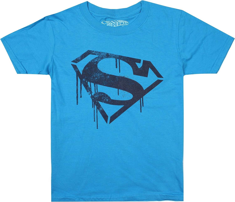 DC Comics Superman Stencil T-Shirt Bambino