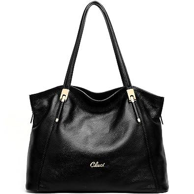 Amazon.com: Cluci Leather Handbags Designer Tote Satchel Shoulder ...