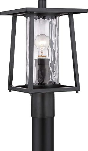 Quoizel LDG9009K Lodge Outdoor Lantern Post Mount, 1-Light, 100 Watts, Mystic Black 16 H x 10 W
