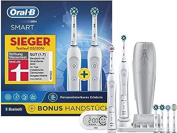 Braun 6000 Bonuspack Adulto - Cepillo de dientes eléctrico (Batería, Integrado, 2 pieza