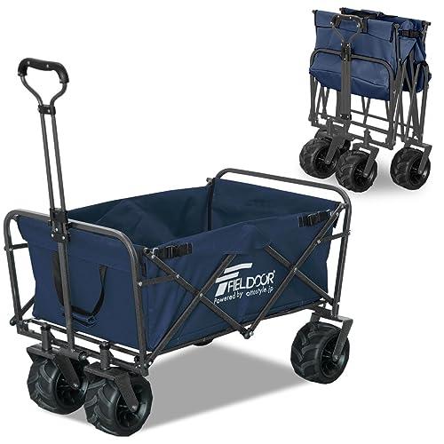 FIELDOORワイルドマルチキャリー/折りたたみ式多用途キャリーカート(ブルー)耐荷重150kgアウトドアキャンプレジャー
