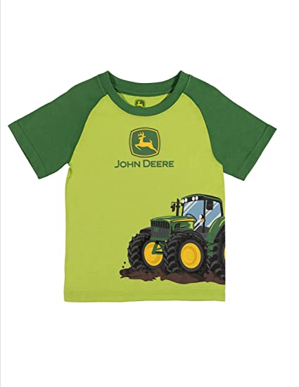 9ac1f79b5b3 Amazon.com  Green John Deere Toddler Side Tractor T-Shirt Short ...