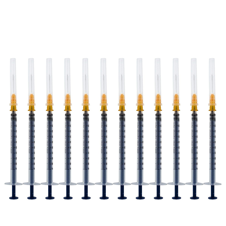 20Pack-1ml/cc Syringe with 27Ga Needle,Disposable Syringe with Needle(1ml20)