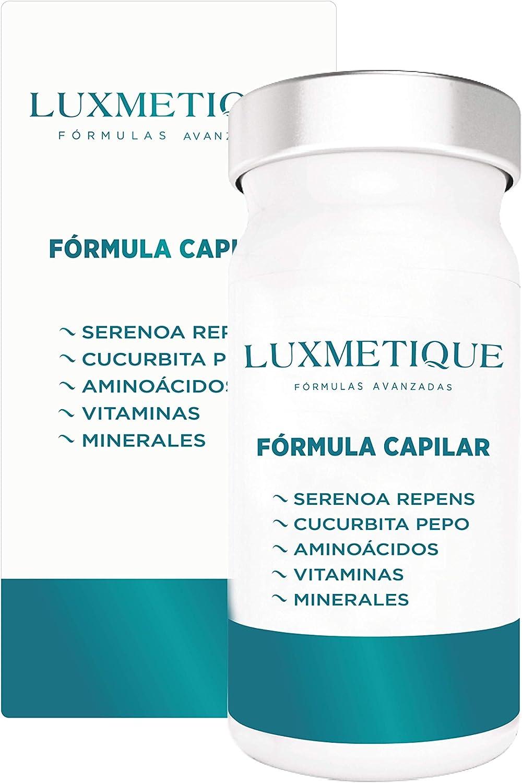 Luxmetique Fórmula Capilar - complemento alimenticio a base de extractos de plantas, L-Cisteína, Vitaminas y Minerales; creado para el cuidado y mantenimiento del cabello. 48,90 g - 60 cápsulas