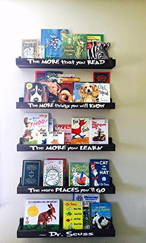Dr Seuss Book Shelf Set, Floating Book Ledge, Dr Seuss Furniture,  Childrenu0027s Bookcases