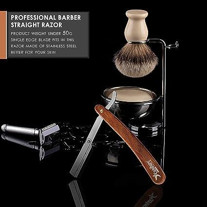 Candure Navaja Profesional Recta para Afeitado Tradicional Afeitar Afeitado Plegable de Barbero: Amazon.es: Belleza