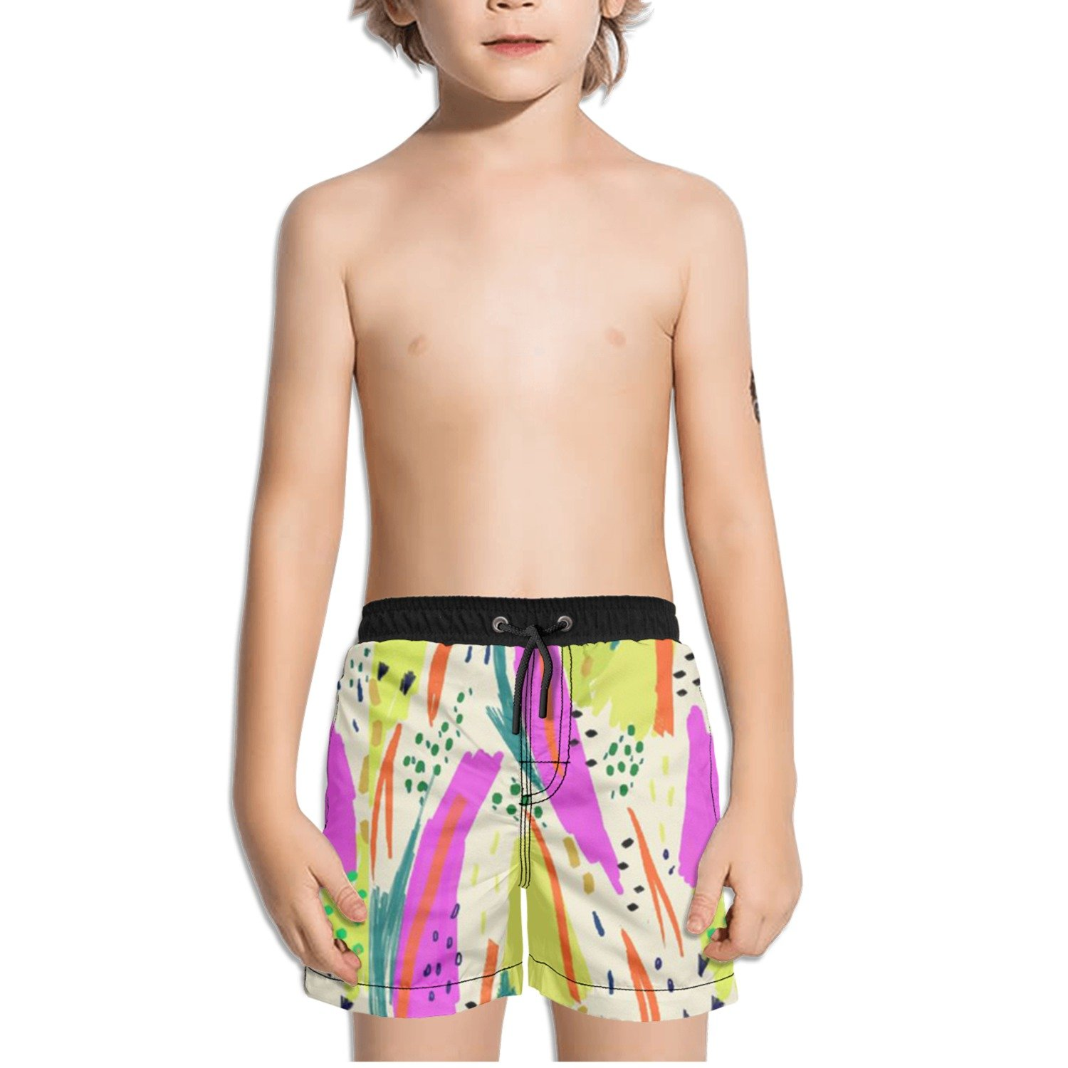 Ouxioaz Boys Swim Trunk Abstract Watercolor Art Beach Board Shorts