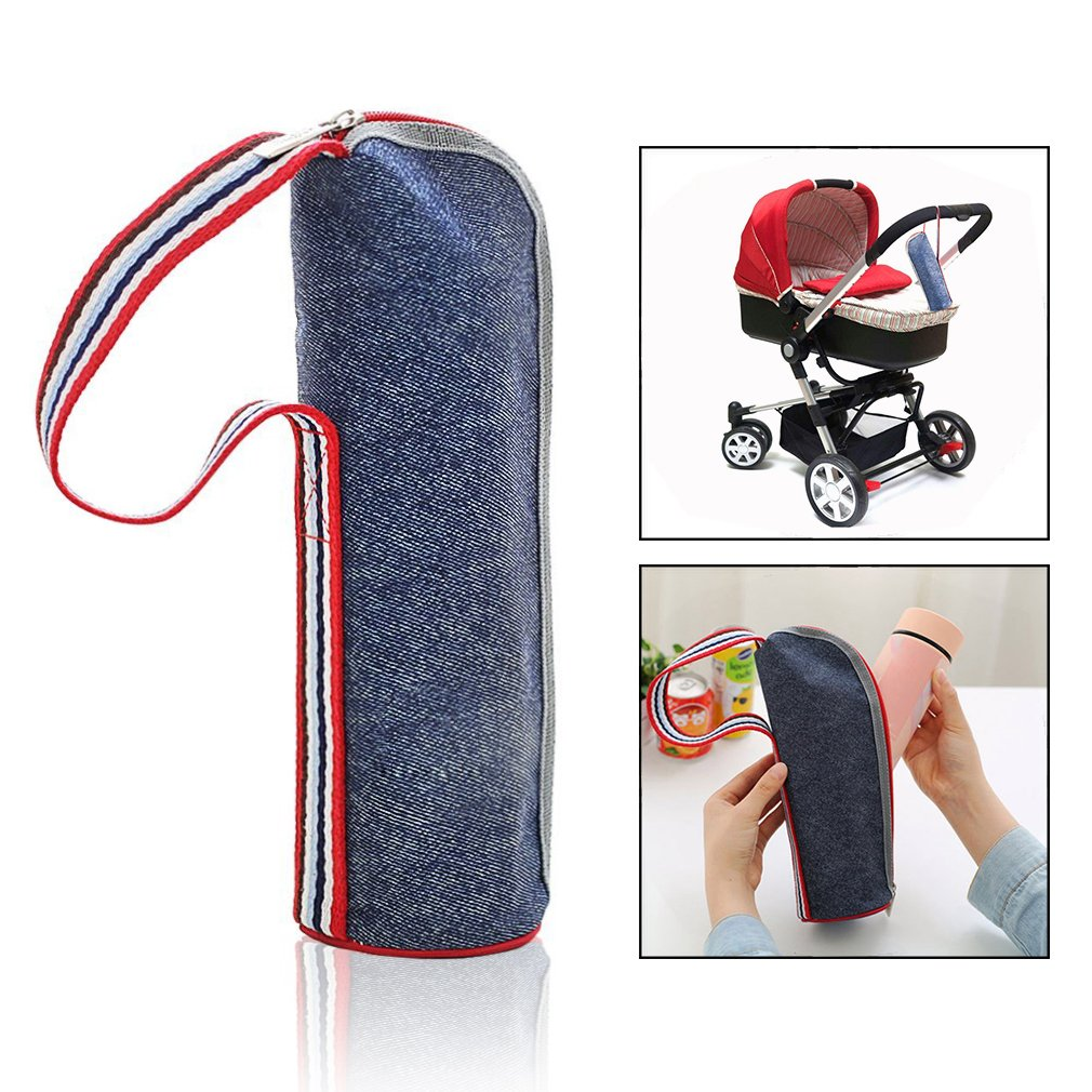 OFKPO Fashionable Portable Oxford Cloth Insulated Bottle Bag, Bottle Warmer Or Cooler Bag for Baby Feeding, School, Office, Camping, Fishing