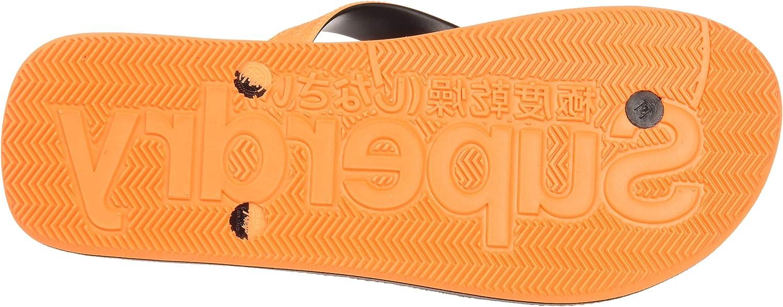 Multicolour Fluro Orange//Black//Grey Grit X2a 44//45 EU 10//11 UK Superdry Scuba Grit Flip Flop Men/'s Flip Flop Flip Flops