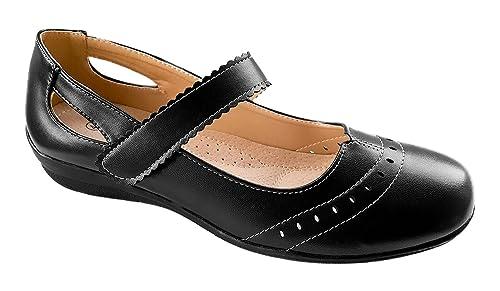 2e45db7101d Rapidoshop - Chaussures Ballerines Babies Femme Grande Taille DM816-6  Première Cuir (41