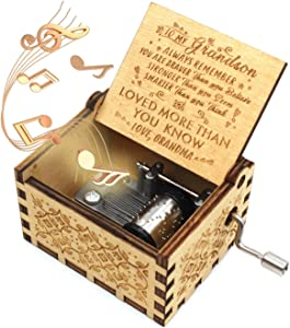ukebobo Wooden Music Box- You are My Sunshine Music Box, from Grandma to Grandson, Gifts for Kids - 1 Set