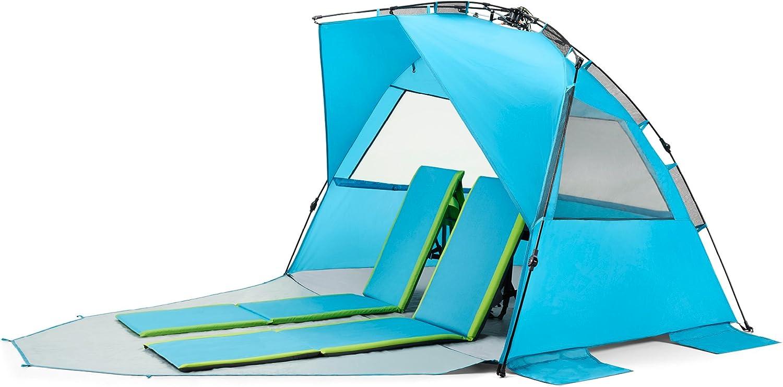 Pacific Breeze Easy Setup Beach Tent Deluxe