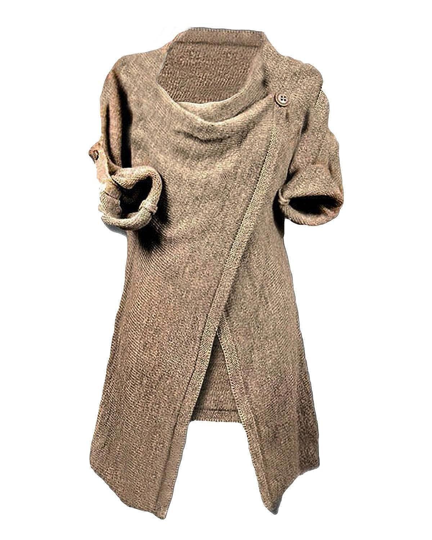 Myobe Women's Asymmetric Hem Cowl Neck Cardigan Free Size US 2-4