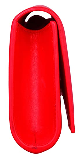Yves Saint Laurent - Cartera de mano de poliéster para mujer Rojo rojo: Amazon.es: Ropa y accesorios