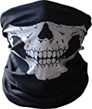 Diageng B00H5XNWJG  Black Seamless Skull Face Tube Mask BUFF-Thin