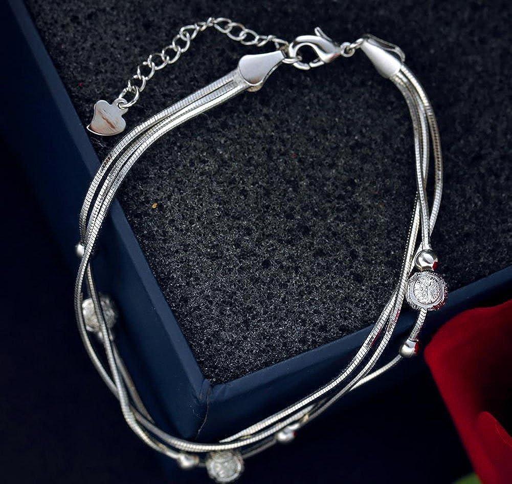 Lovind Fashion Bracelet Multilayer Snake Bone Chain Exquisite and Fancy Design Girl Birthday Gift