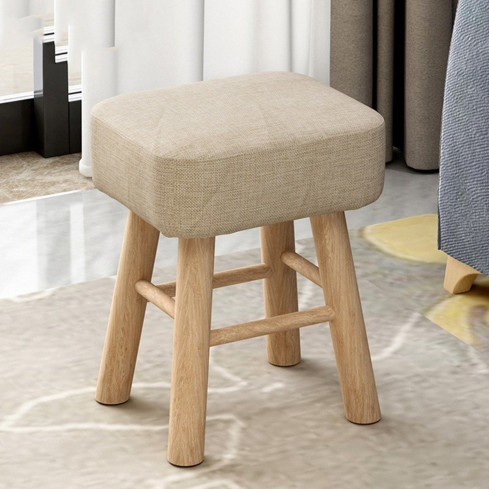 [child] [rural] Space saving Changing shoes stool [compression] Sponge Round stool Tea table Shoes stool-Square - Plain - High Style 353043cm