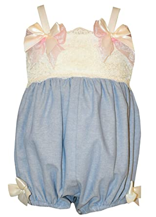 fed391402 Image Unavailable. Image not available for. Color: Bonnie Baby Lace  Chambray Bubble ...