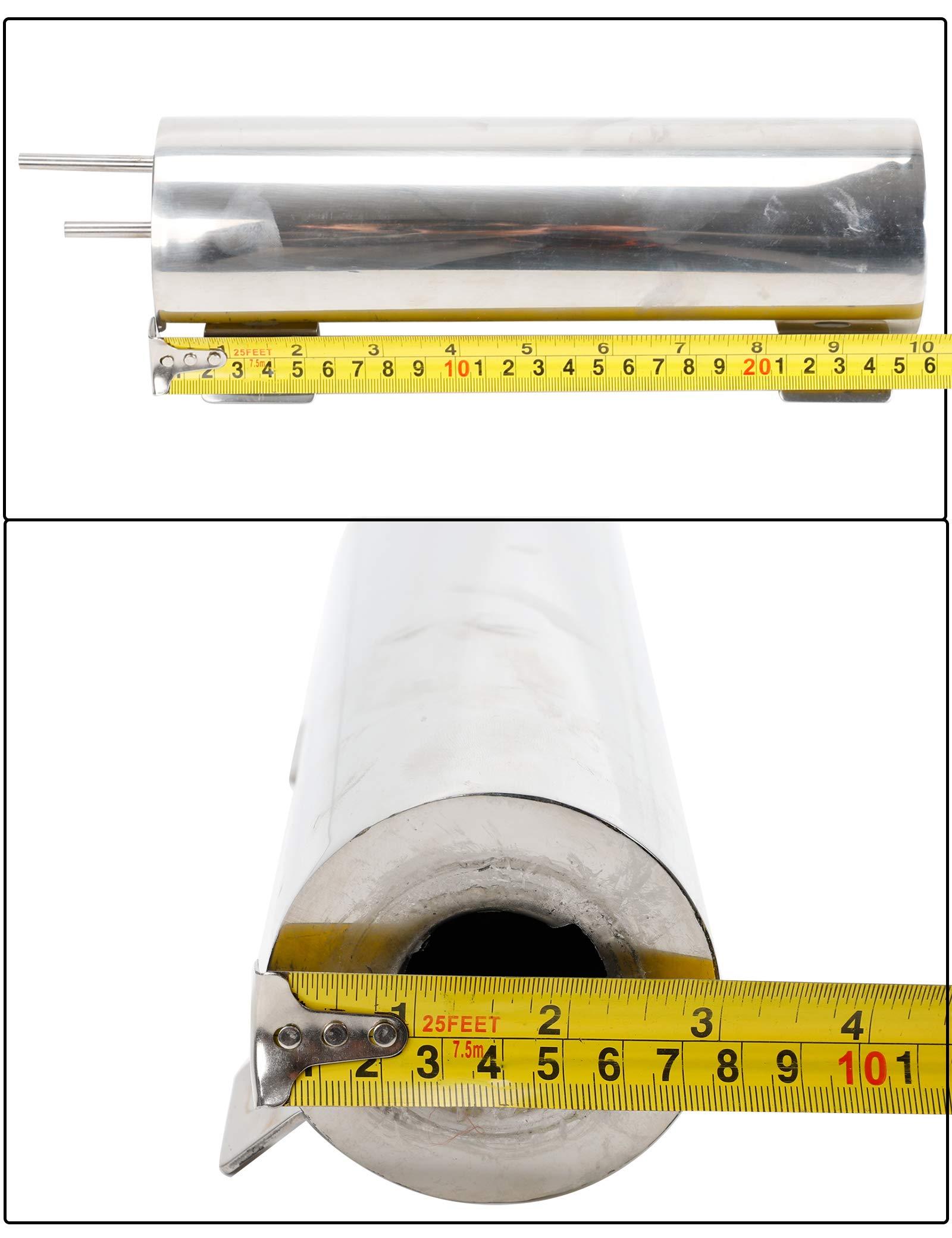 BLACKHORSE-RACING 3'' X 10'' Radiator Coolant Overflow Puke Tank Polished Stainless Steel 32OZ by BLACKHORSE-RACING (Image #4)